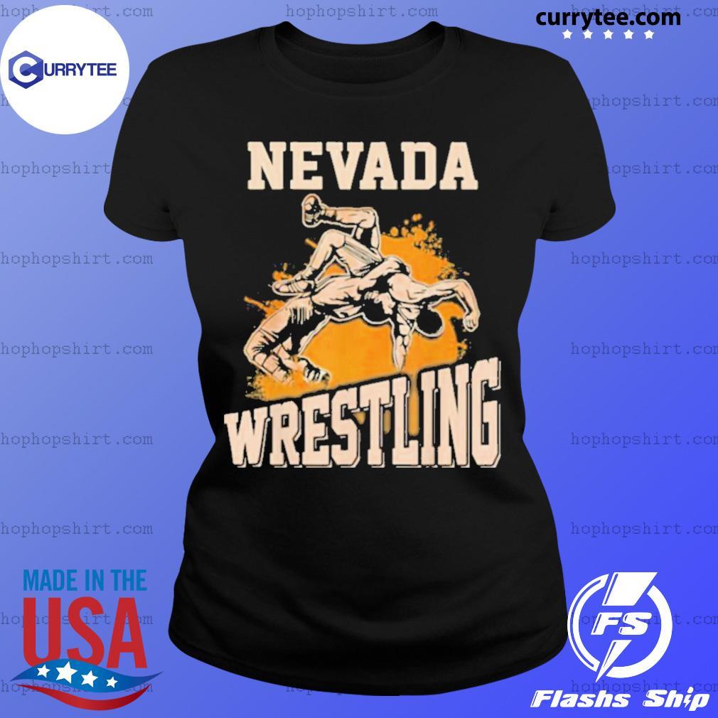 Nevada Wrestling Dad Mom For Wrestler Son Ladies Tee