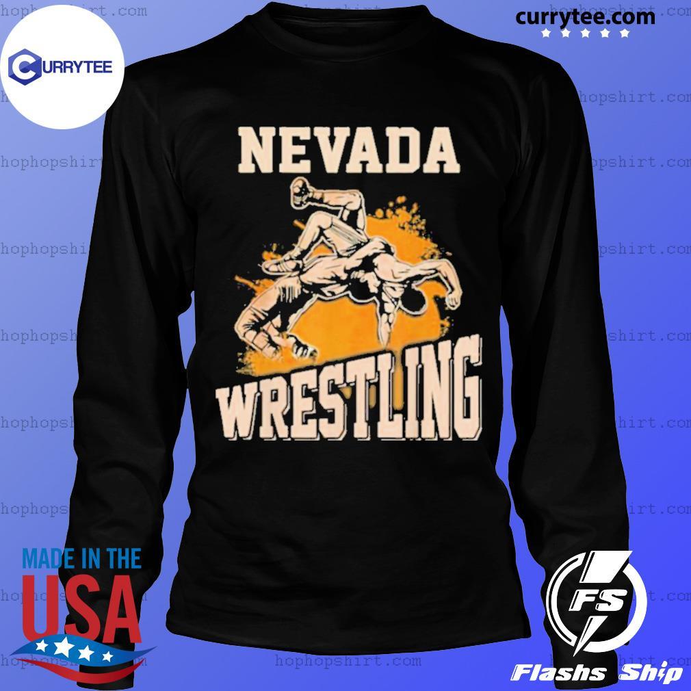 Nevada Wrestling Dad Mom For Wrestler Son LongSleeve