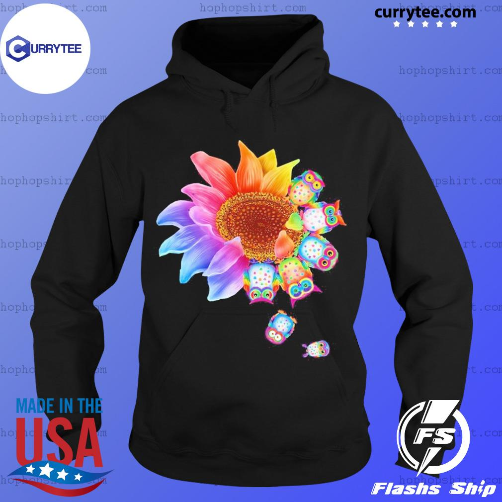 Sunflower Owls Dandelion Shirt Hoodie