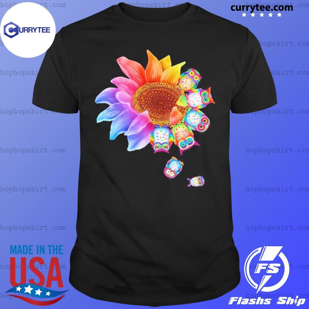 Sunflower Owls Dandelion Shirt