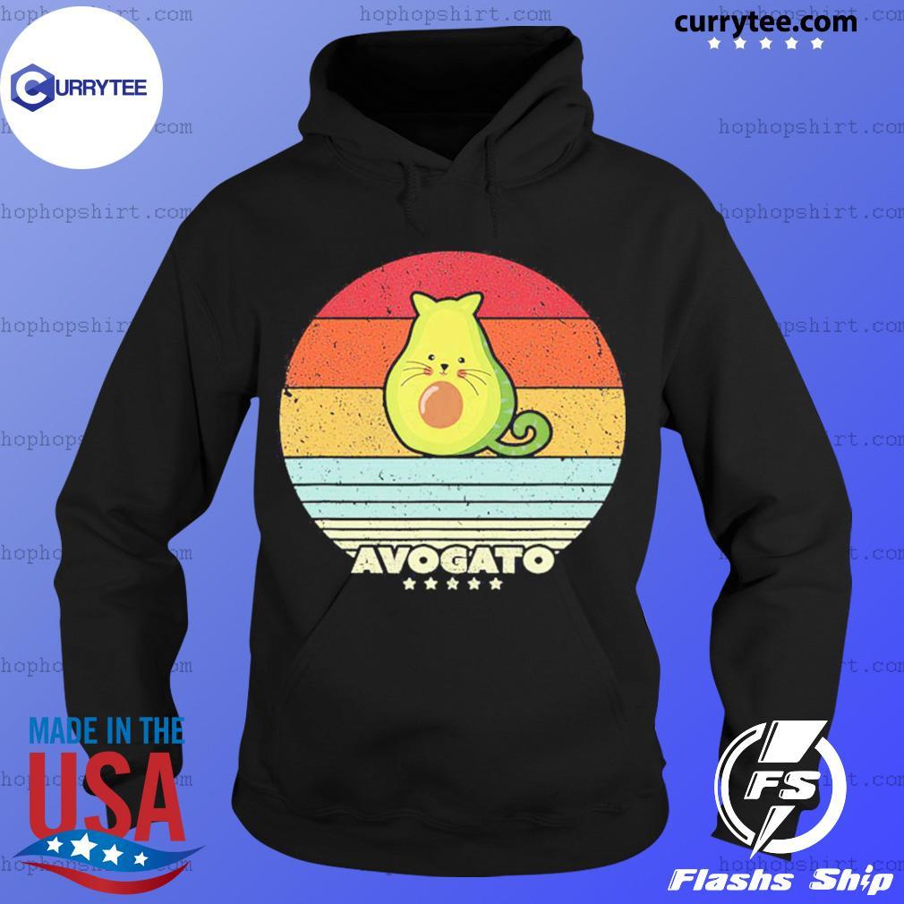 Cat Avocado Avogato Vintage Retro Shirt Hoodie