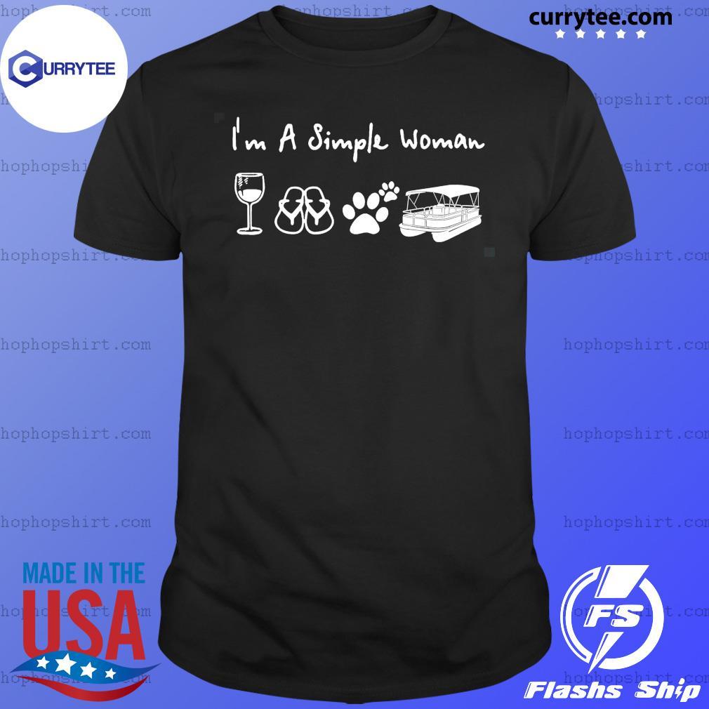I'm a simple woman pontoon win-e dog shirt phq ngt Classic T-Shirt