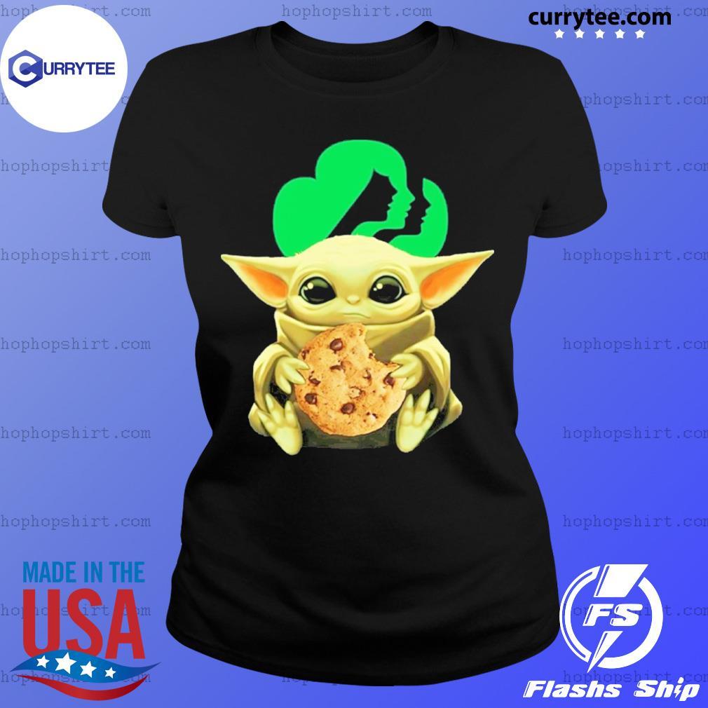 Baby Yoda Hug Girl Scouts Shirt Ladies Tee