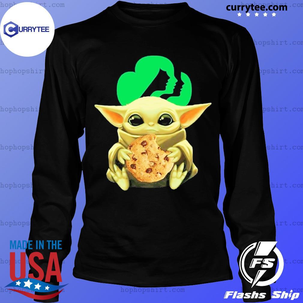 Baby Yoda Hug Girl Scouts Shirt LongSleeve