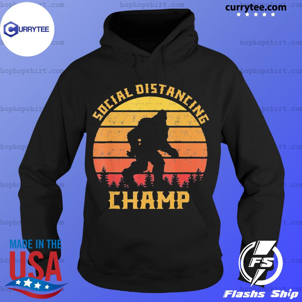 Bigfoot social distancing champ introvert antisocial s Hoodie