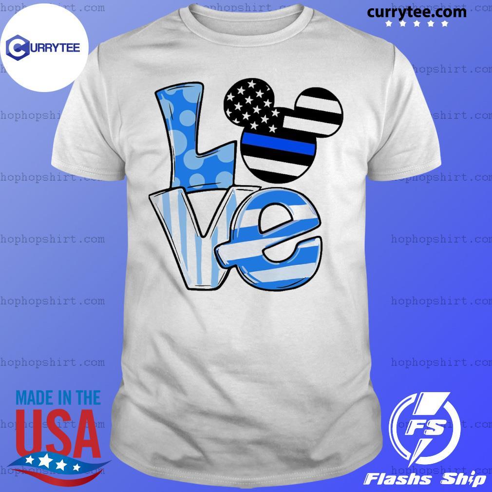 Mickey love ice flag shirt