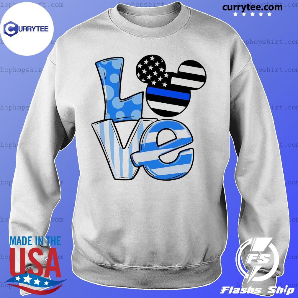 Mickey love ice flag s Sweater