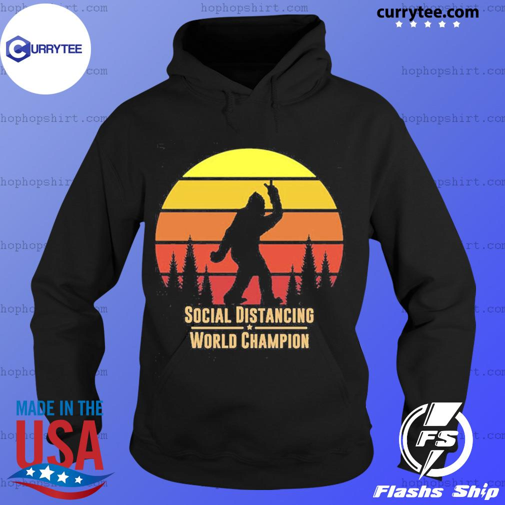 Social distancing world champion Bigfoot yeti sunset s Hoodie