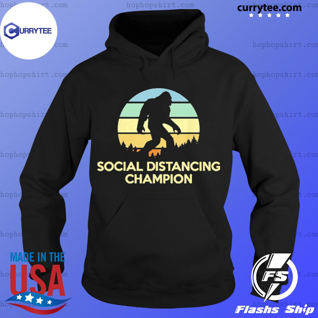 Vintage Social Distancing Champion Bigfoot Shirt Hoodie