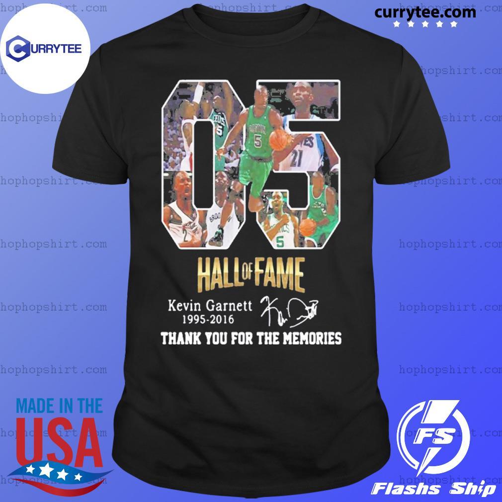 05 Hall of Fame Kevin Garnett 1995 2016 signature shirt