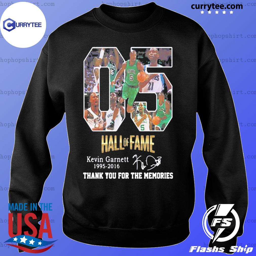 05 Hall of Fame Kevin Garnett 1995 2016 signature s Sweater