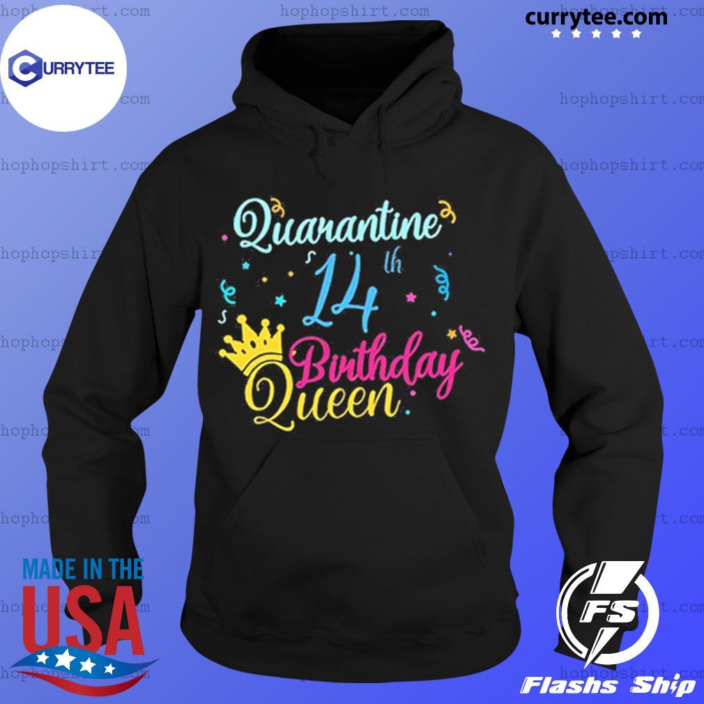 14th birthday quarantine queen crown year social distancing birthday s Hoodie