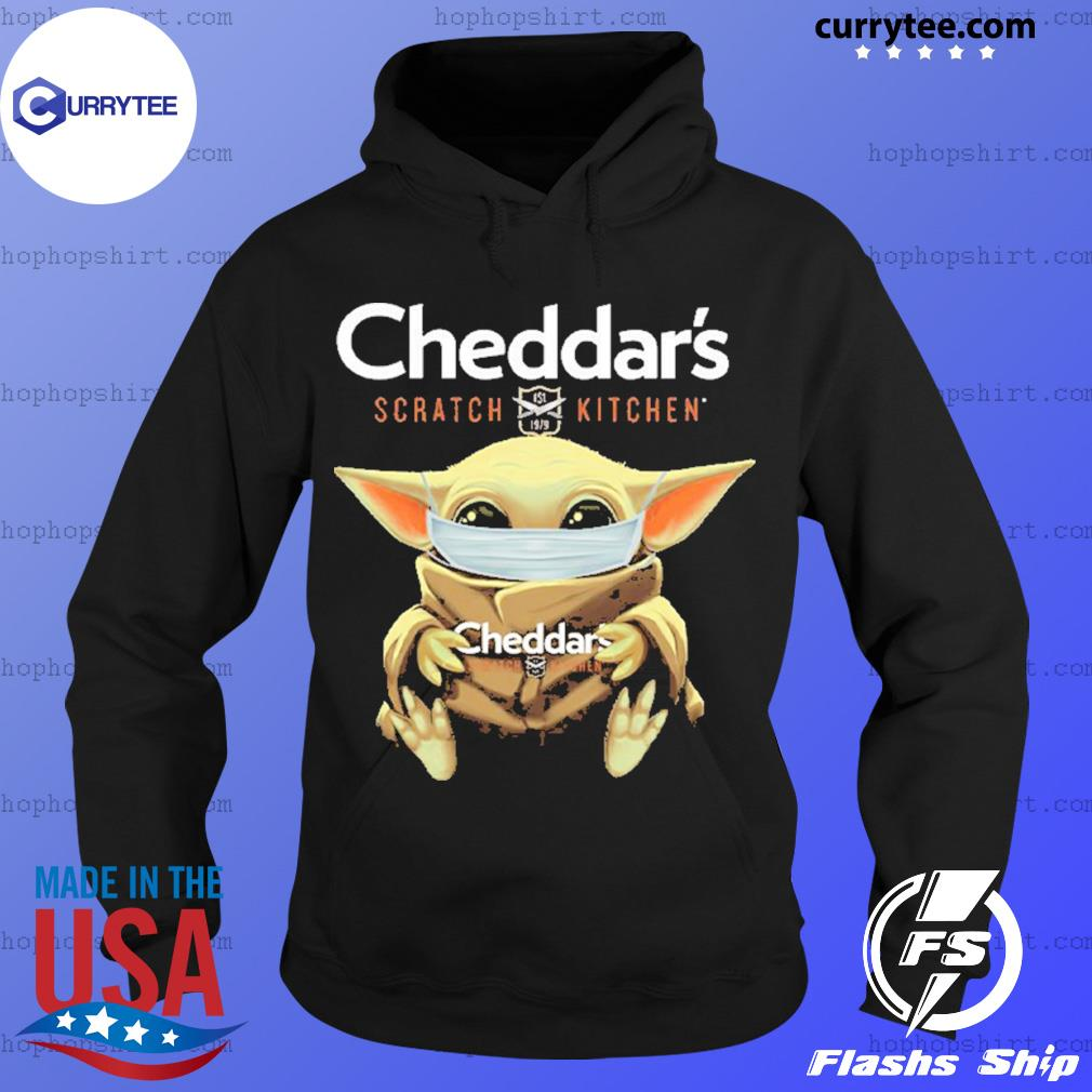 Baby Yoda Face Mask Cheddar's Scratch Kitchen Shirt Hoodie