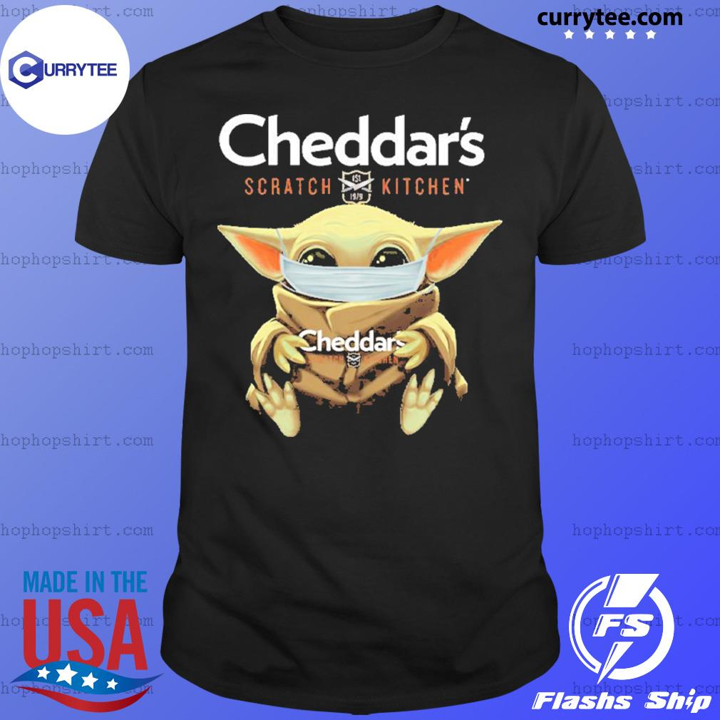 Baby Yoda Face Mask Cheddar's Scratch Kitchen Shirt