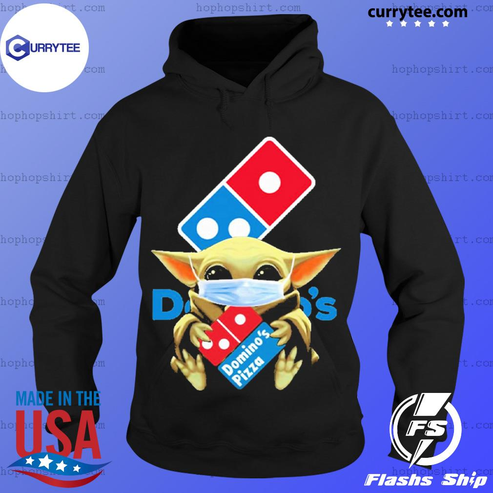 Baby Yoda face mask hug Domino's Pizza I can't stay at home s Hoodie