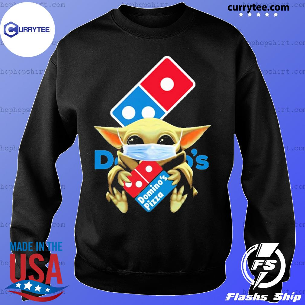 Baby Yoda face mask hug Domino's Pizza I can't stay at home s Sweater