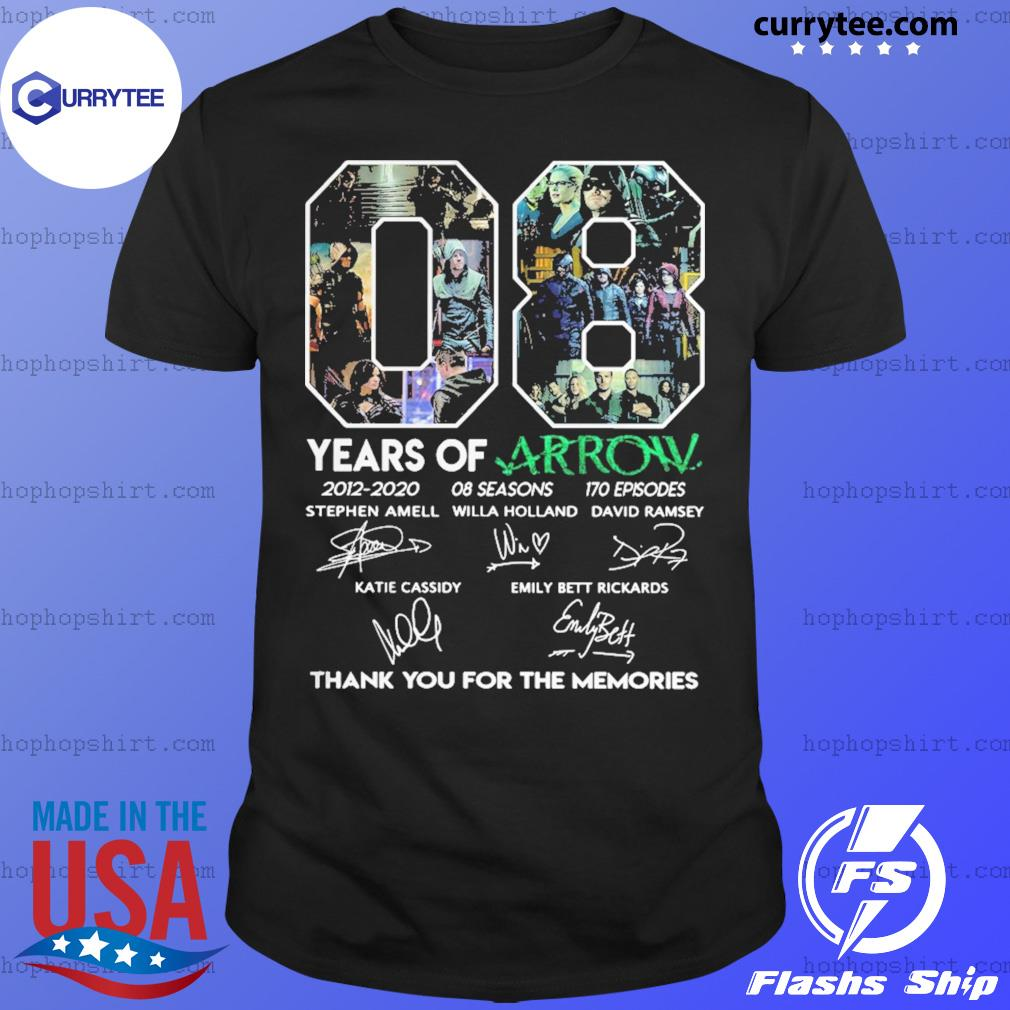 08 Years Of Arrow Thank You For The Memories Signature Shirt