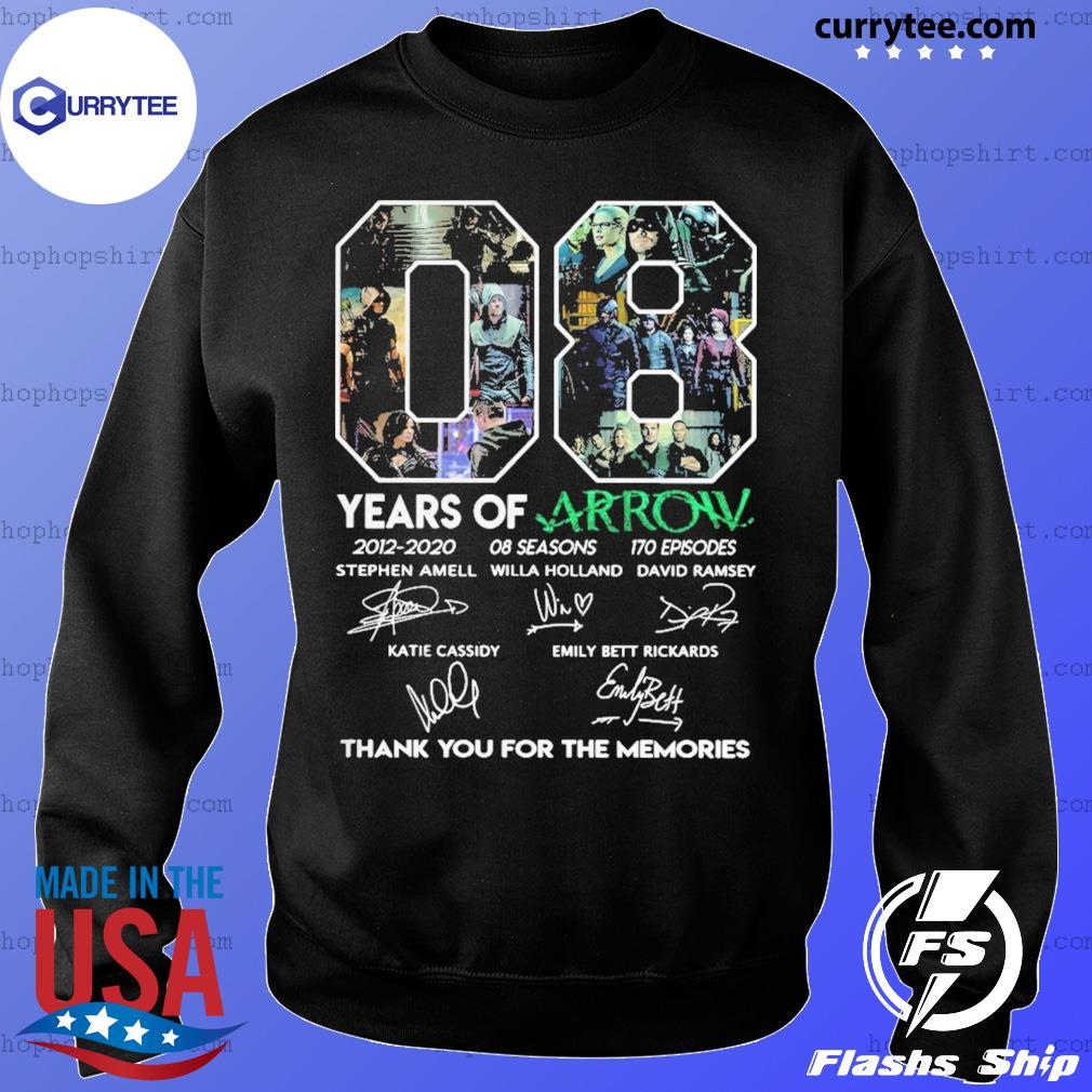 08 Years Of Arrow Thank You For The Memories Signature Shirt Sweater