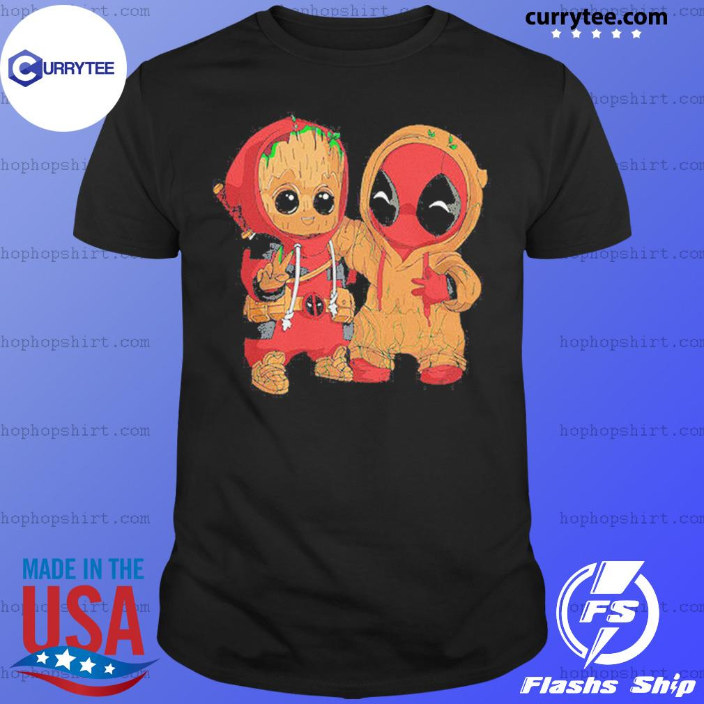 Baby Groot and Deadpool Funny Shirt