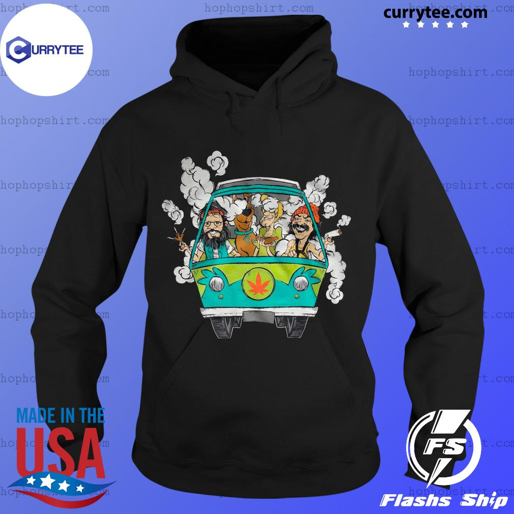 Peace Car Scooby Doo And Hippie Old Man Smoking Weed Shirt Hoodie
