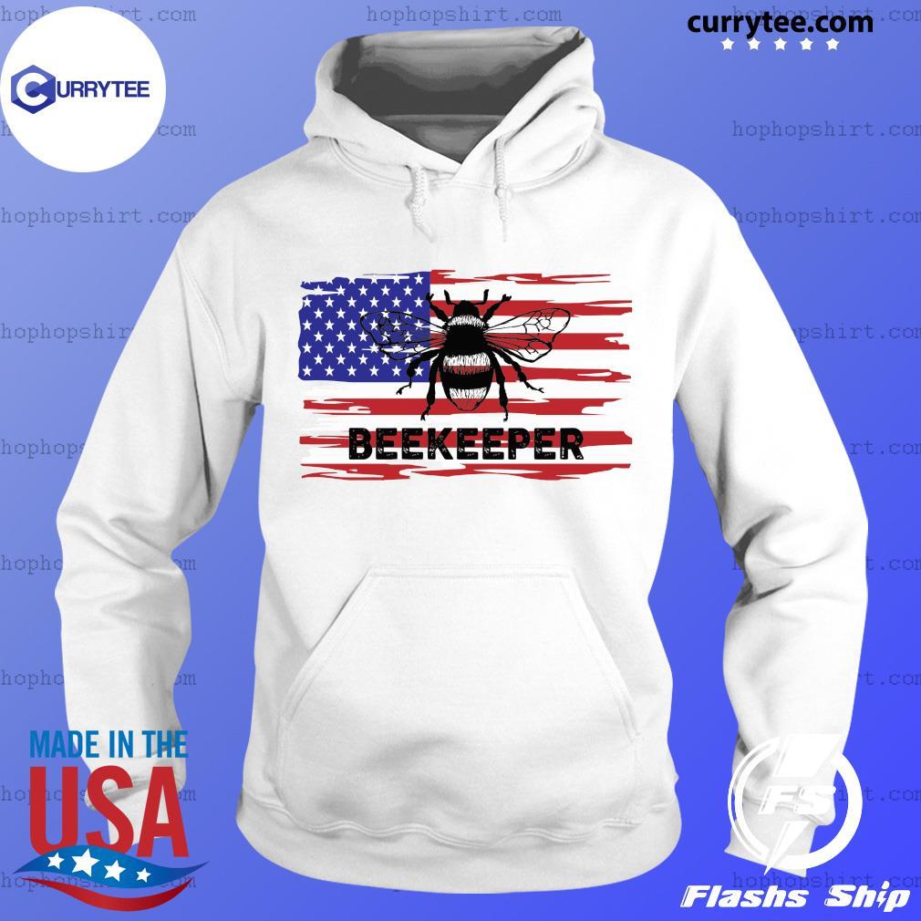 Patriotic Beekeeper American Flag 4th of july Gift Bee Shirt Hoodie