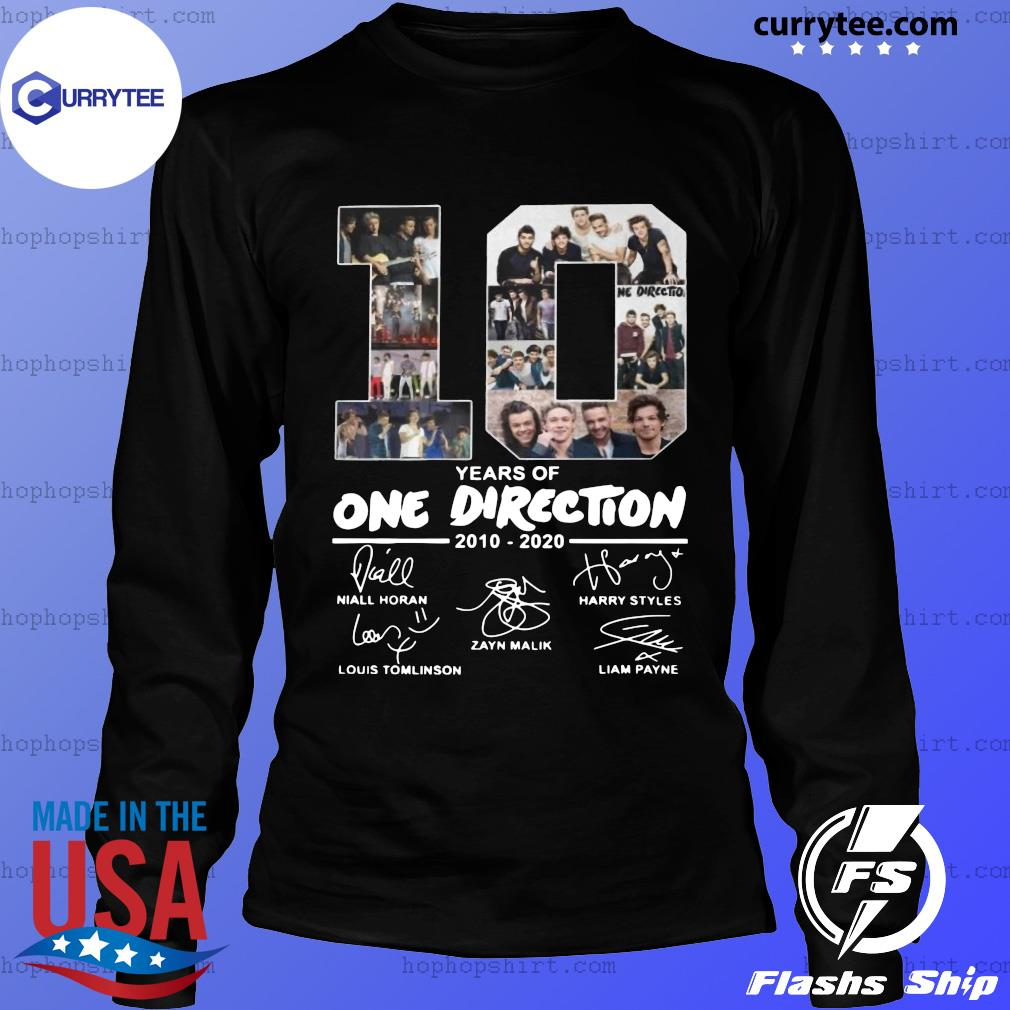 10 Years Of One Direction 2010 2020 Signatures Shirt LongSleeve