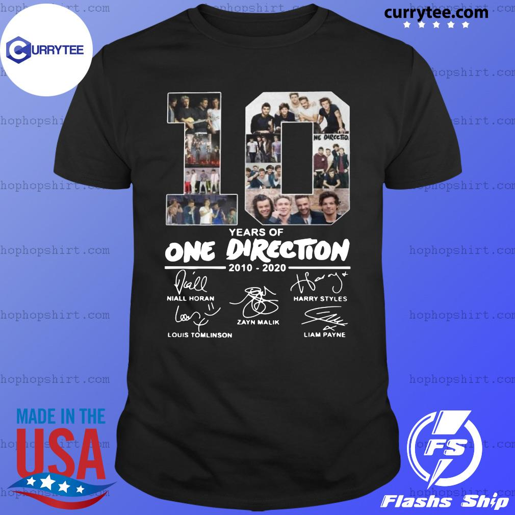 10 Years Of One Direction 2010 2020 Signatures Shirt