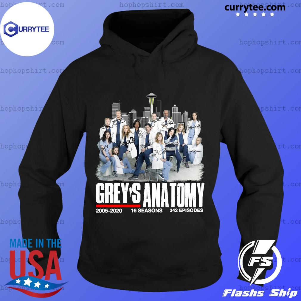 Grey's Anatomy 2005 2020 16 Seasons 342 Episodes Signatures Shirt Hoodie
