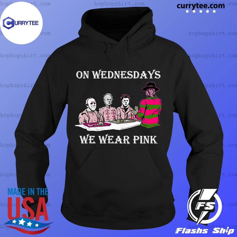 Horror Michael Myers On Wednesdays We Wear Pink Shirt Hoodie