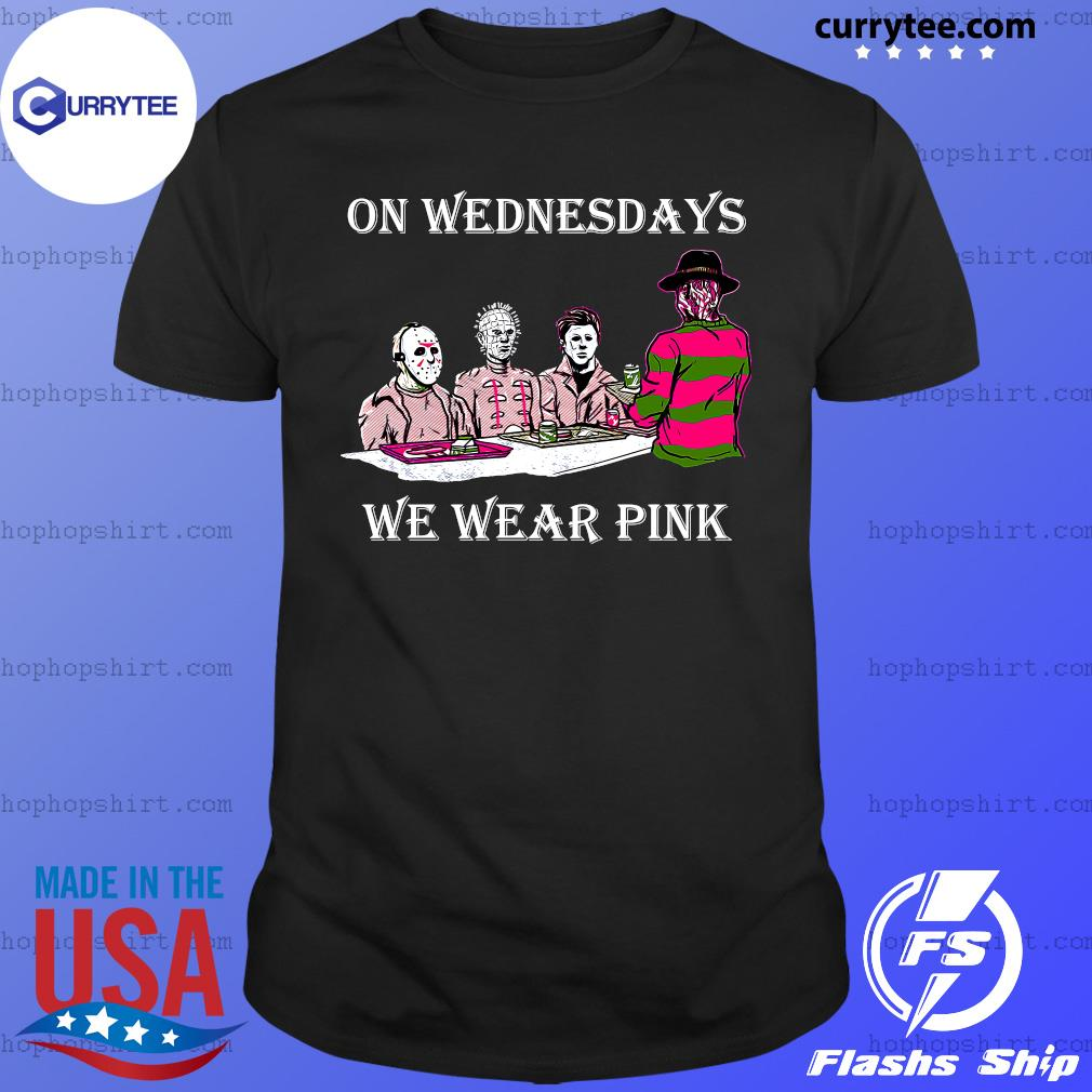 Horror Michael Myers On Wednesdays We Wear Pink Shirt