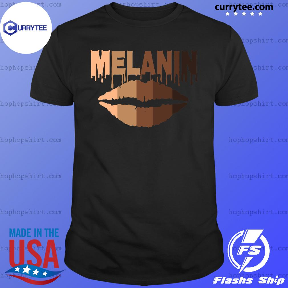 Lip Melanin Shades Black Pride Gift T-Shirt