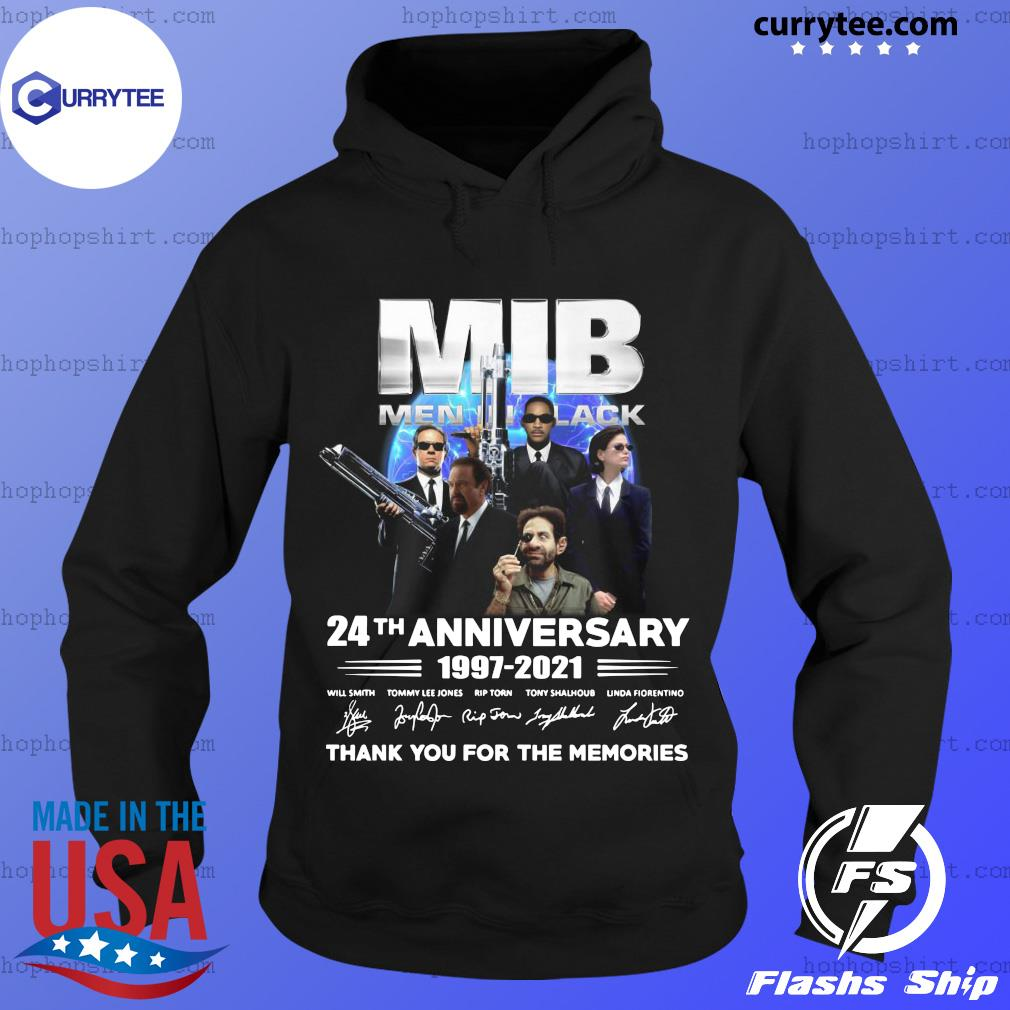 MIB Men In Black 24th Anniversary 1997 2021 Thank You For The Memories Signatures Shirt Hoodie
