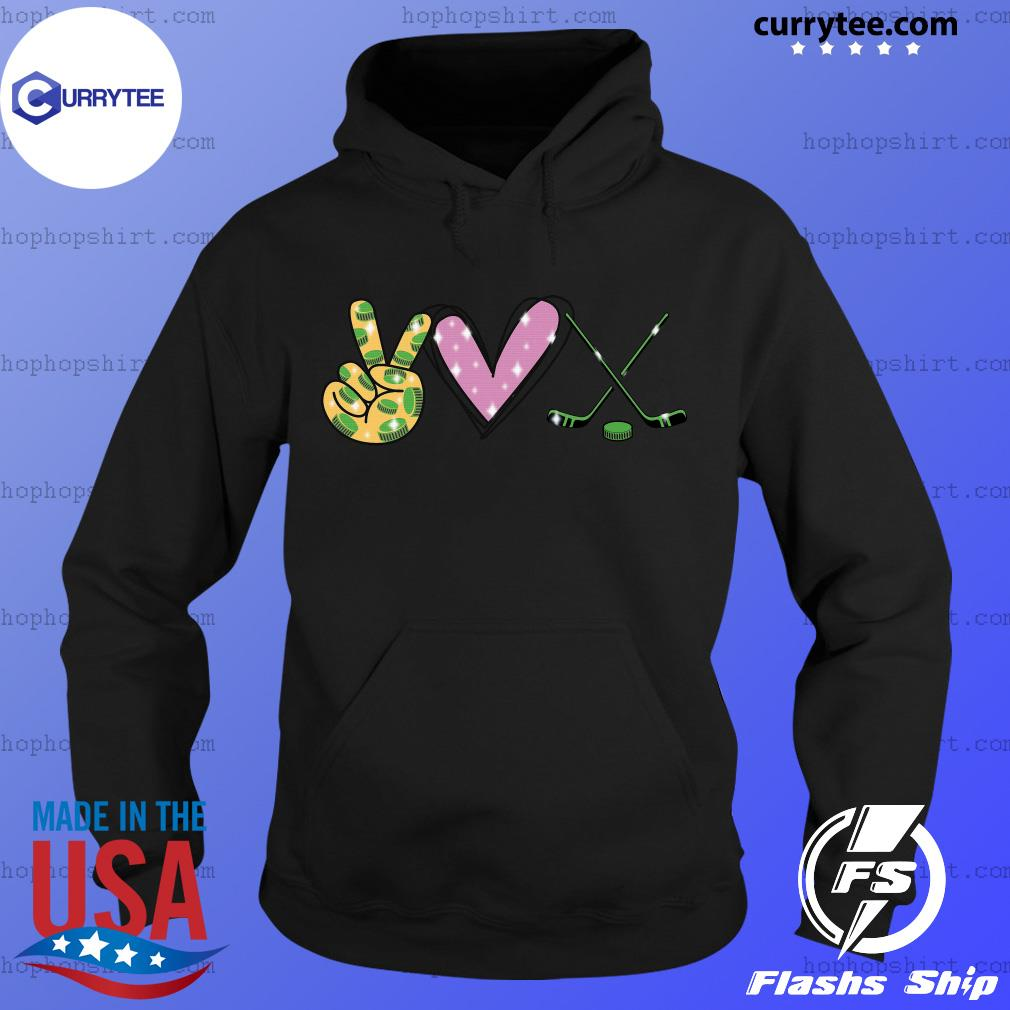 Peace Love Hockey Shirt Hoodie
