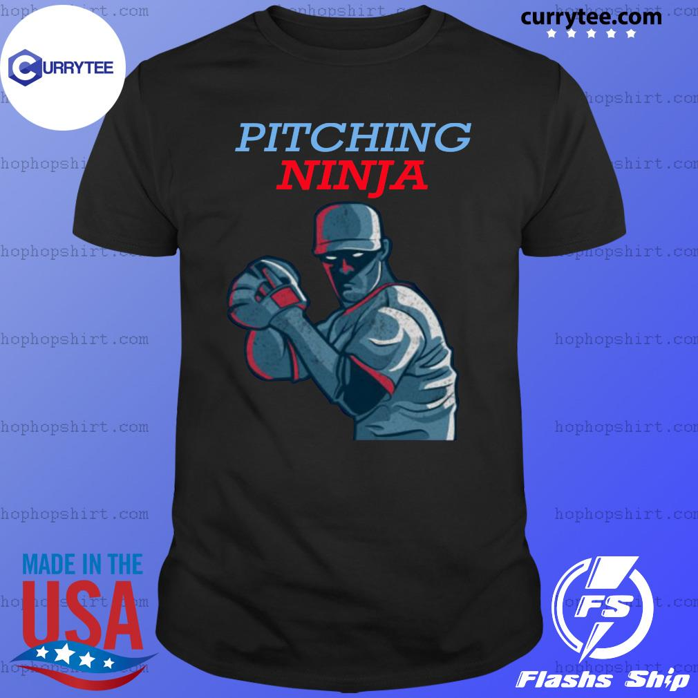 Pitching Ninja Baseball Pitcher Official T-Shirt