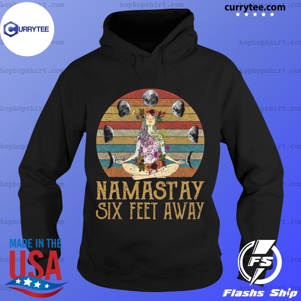 Yoga Girl Namastay Six Feet Away Vintage Retro Shirt Hoodie