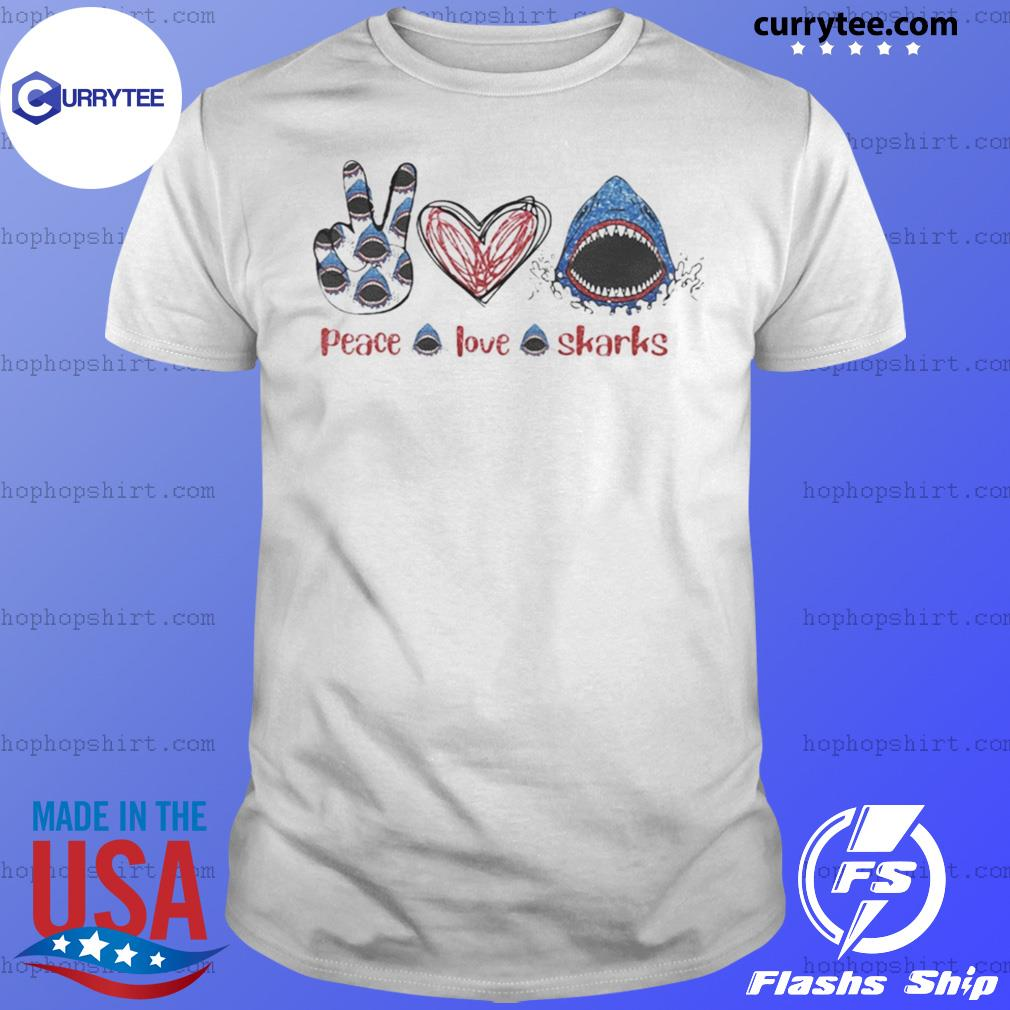 Peace Love Sharks Hippie Heart Sharks shirt