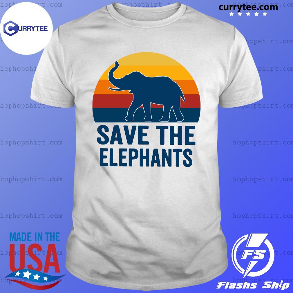 Save The Elephant Vintage Retro Shirt