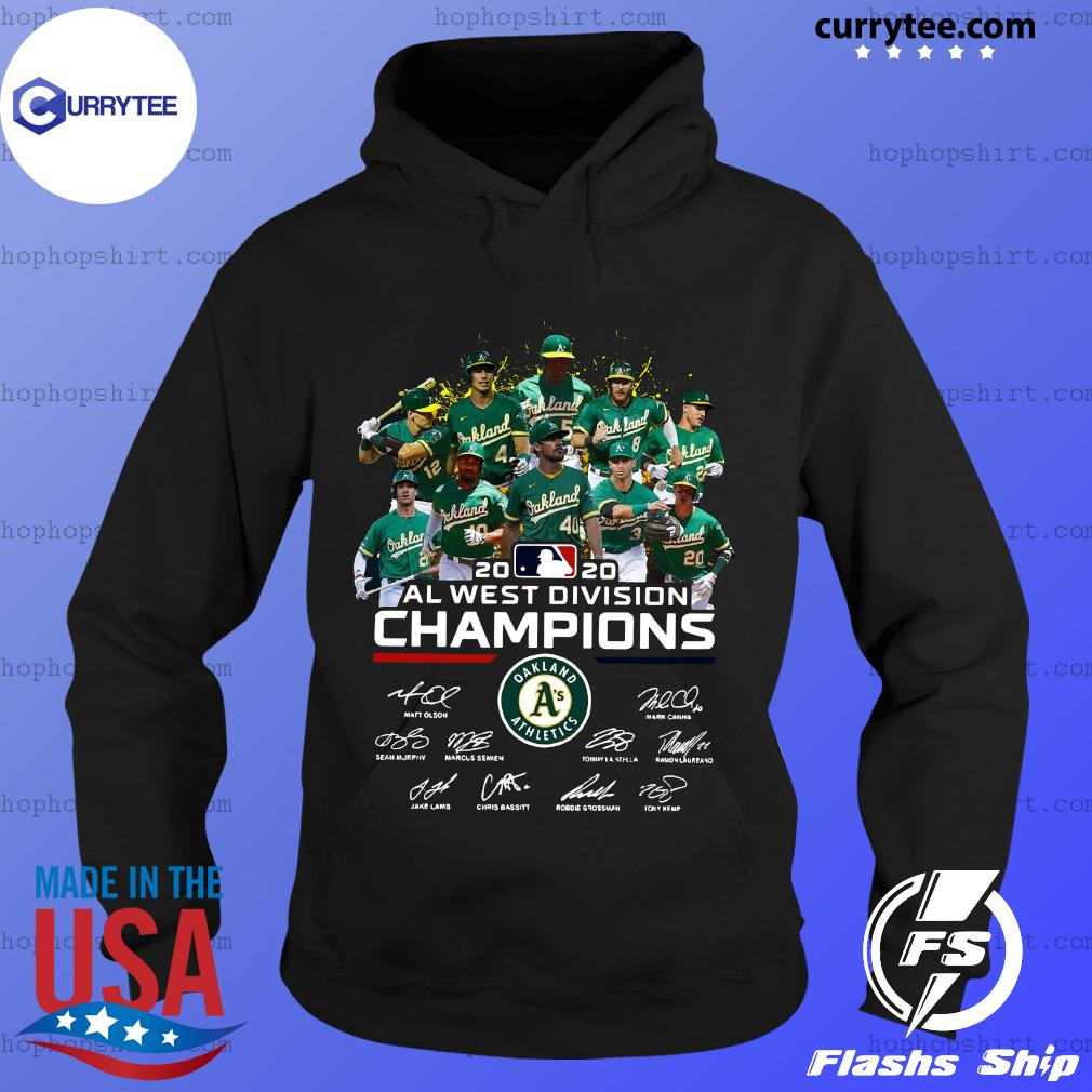 2020 Al West Division Champion Oakland Athletics Players Signatures Shirt Hoodie