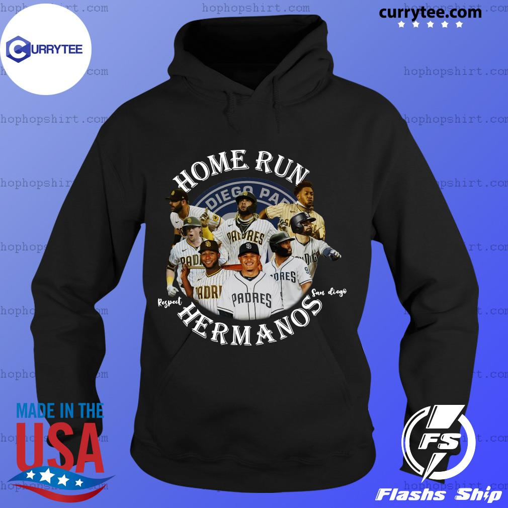 Home Run Respect San Diego Hermanos Player Shirt Hoodie