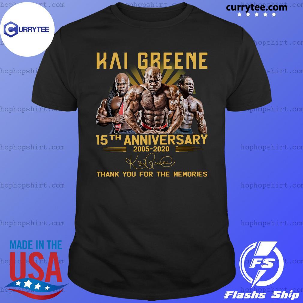 Kai Greene 15th anniversary 2005 2020 signatures thank shirt