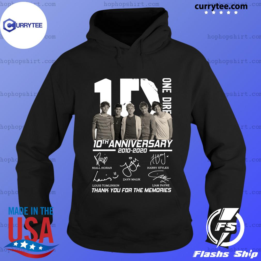 Official One Direction 10th anniversary 2010 2020 thank you for the memories s Hoodie