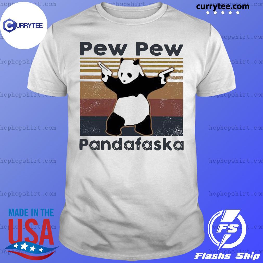 Panda Pew pew pandafaska vintage retro shirt