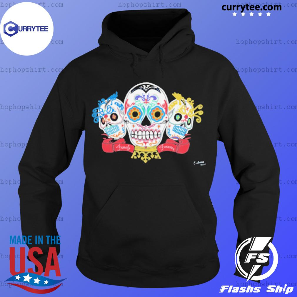 Sugar Skulls 3 Brothers Family Forever Day Of The Dead s Hoodie