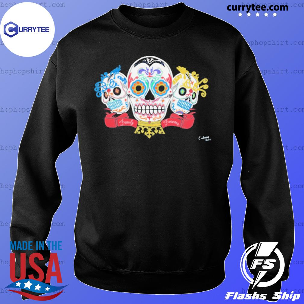 Sugar Skulls 3 Brothers Family Forever Day Of The Dead s Sweater
