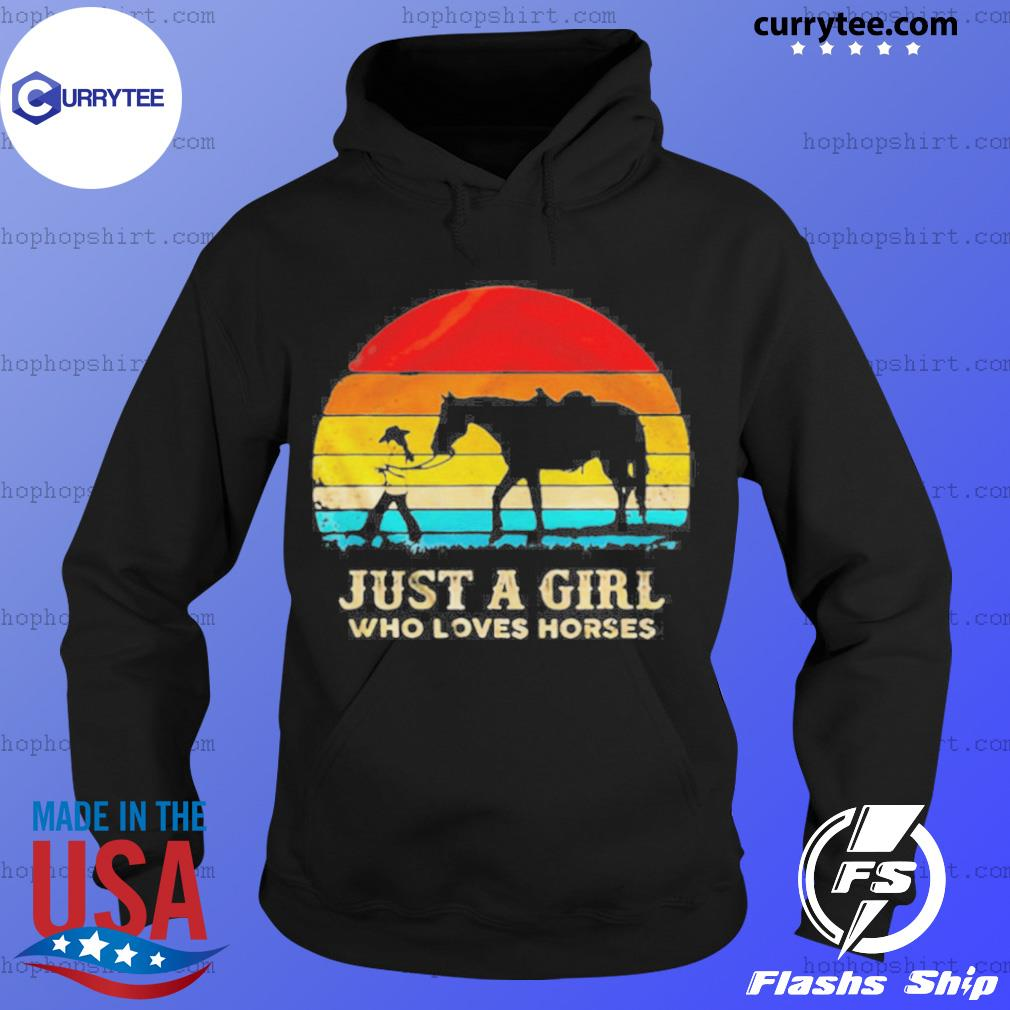 Vintage Just A Girl Who Loves Horses s Hoodie