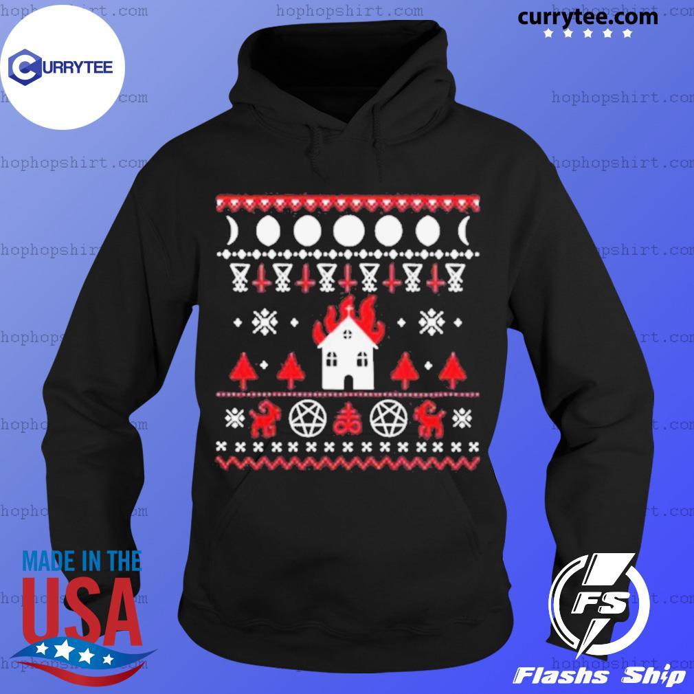 Burning Church Ugly Christmas 2020 s Hoodie