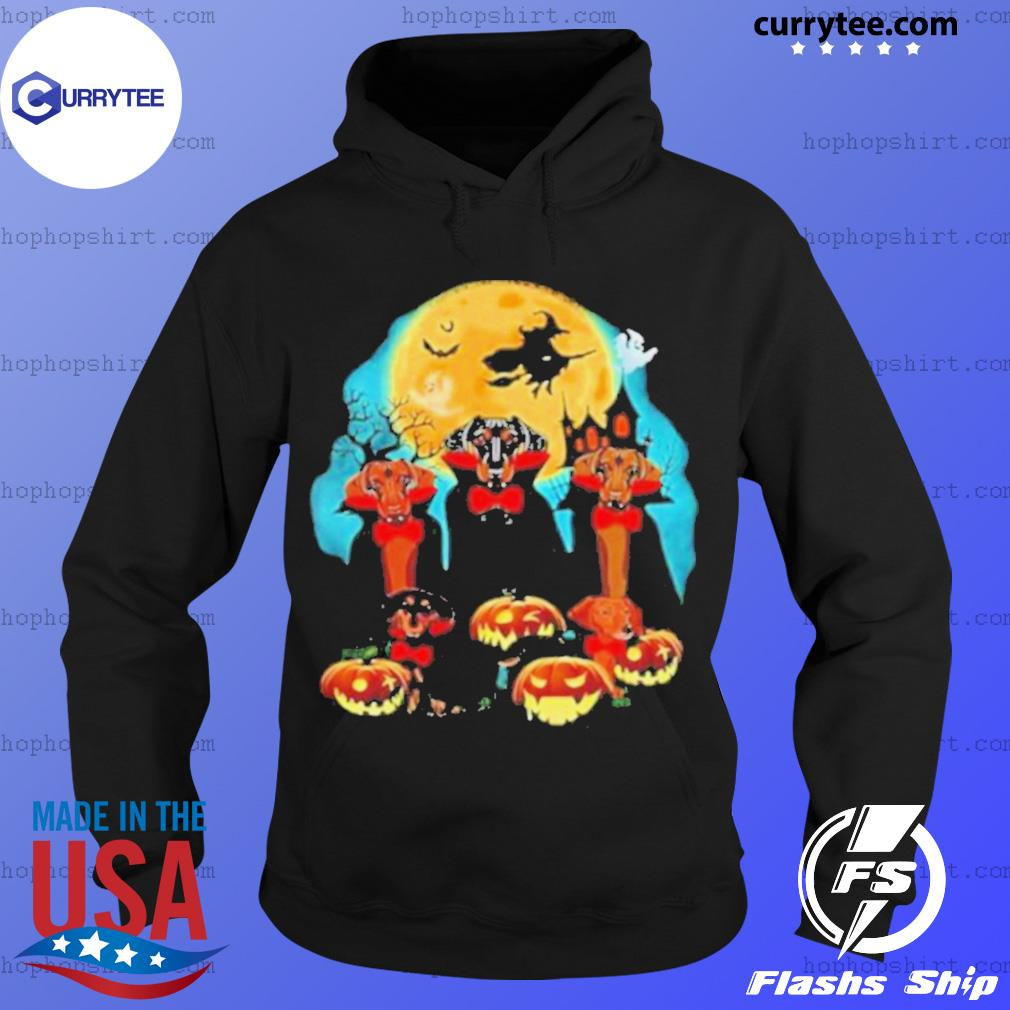 Dachshund Dracula Pumpkin Moonlight Happy Halloween s Hoodie