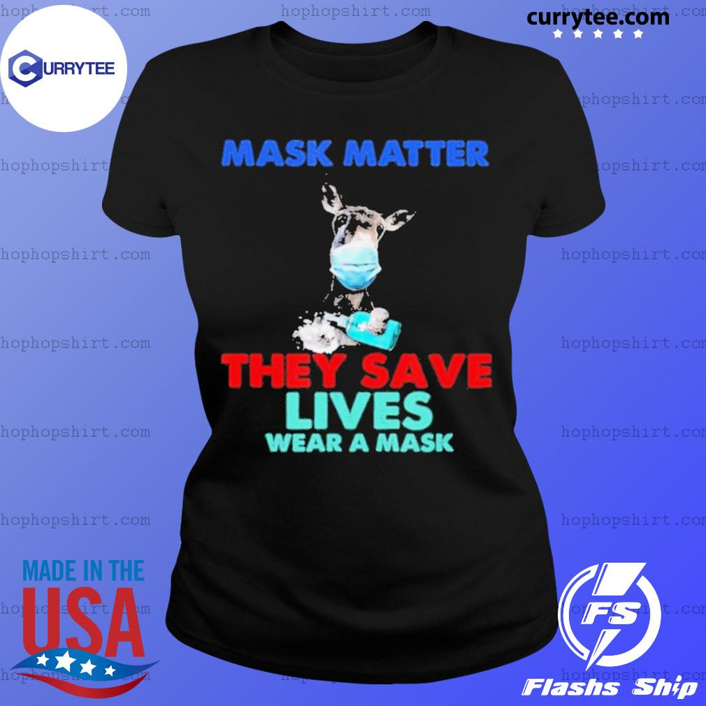 Donkey Mask Matter They Save Lives Wear A Mask s Ladies Tee