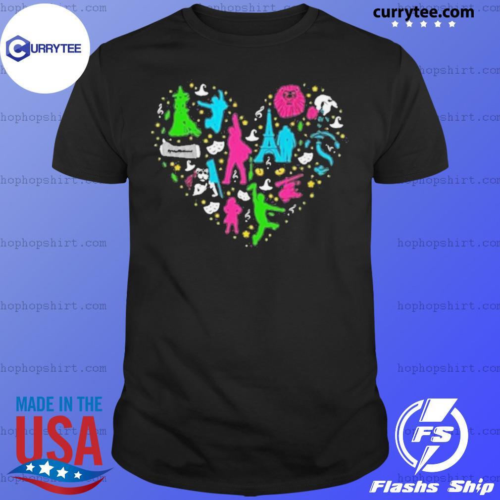 Heart Love Musicals Christmas shirt