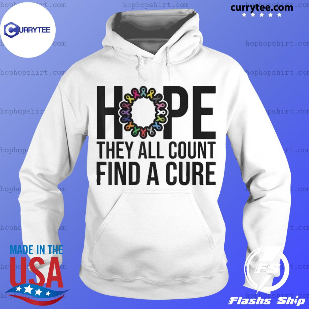 They all count Find a cure Cancer Awareness s Hoodie
